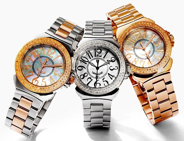 80% Off: Lancaster Diamond Watches at MYHABIT
