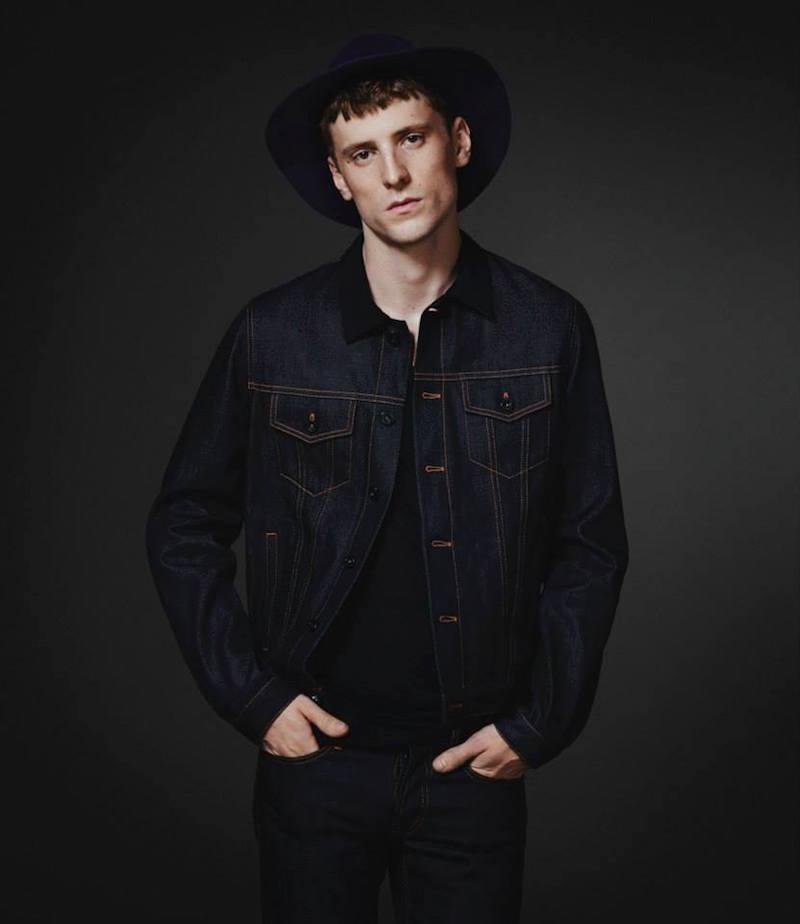 Burberry XO Barneys New York Grosgrain-Collar Jeans Jacket
