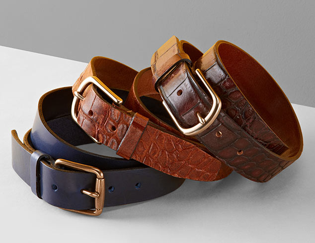 Designer Focus: Belts feat. John Varvatos at MYHABIT