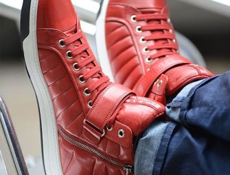 Prada Quilted Nappa Leather High-Top Sneakers