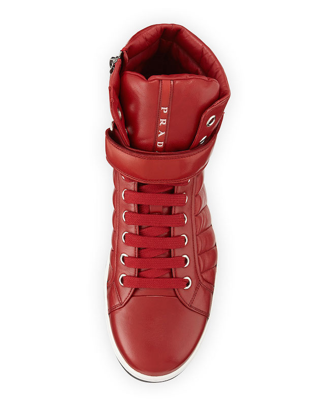 Prada Quilted Nappa Leather High-Top Sneakers_2