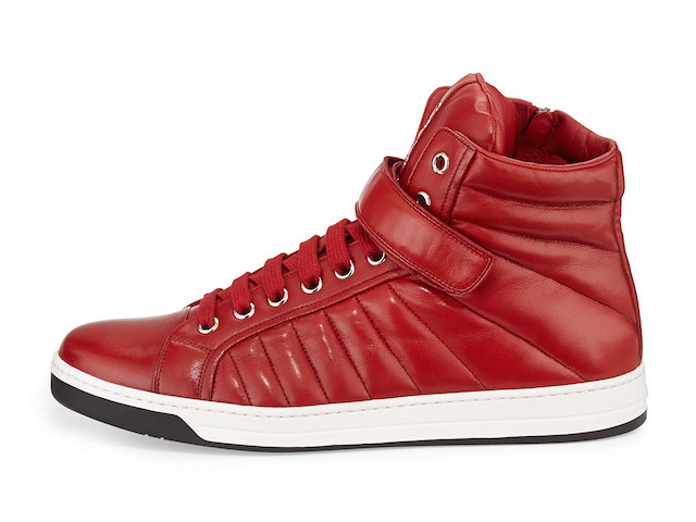 Prada Quilted Nappa Leather High-Top Sneakers_3