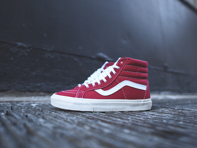Vans SK8-Hi Reissue 10 Oz Canvas Tango Red_1