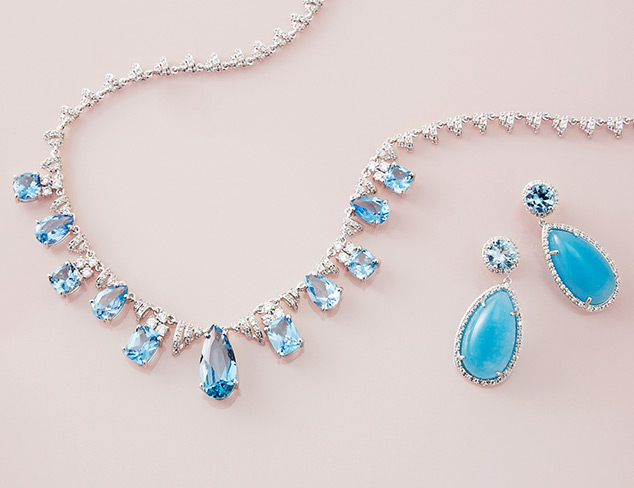 CZ by Kenneth Jay Lane: Aquamarine at MYHABIT