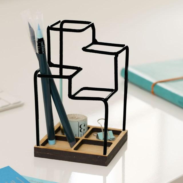 Block Designs Sketch Desk Tidy