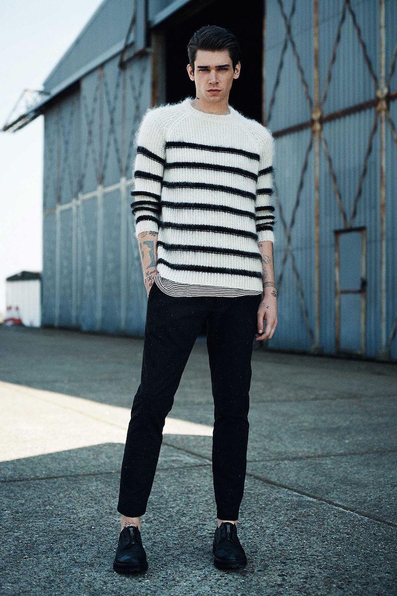 AllSaints Breton Crew Sweater