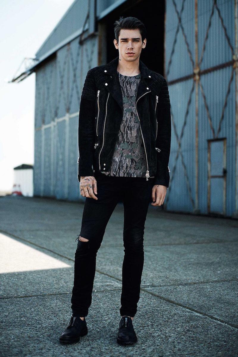 AllSaints Imara Suede Biker Jacket