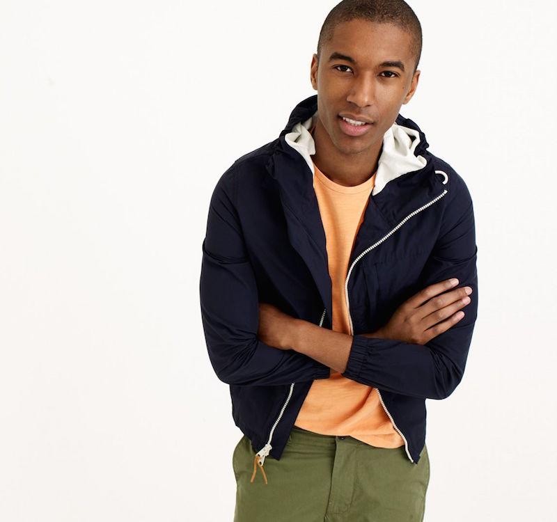 J.Crew X150 Cotton‑Nylon Hooded Jacket
