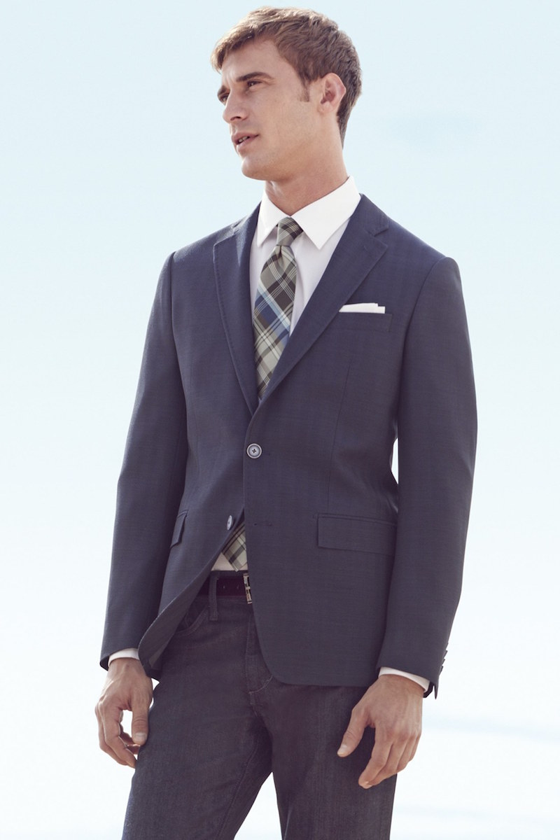 Michael Kors Trim Fit Herringbone Sport Coat