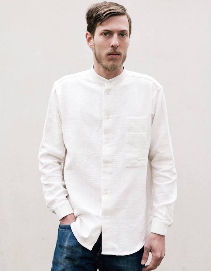 Neuba Collarless Long Sleeve Shirt