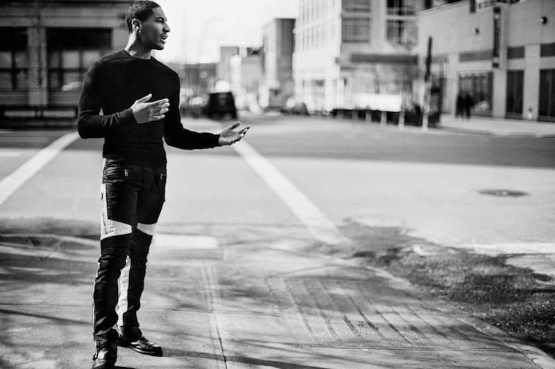 Ralph Lauren Black Label Leather-Trim Moto Skinny Jeans
