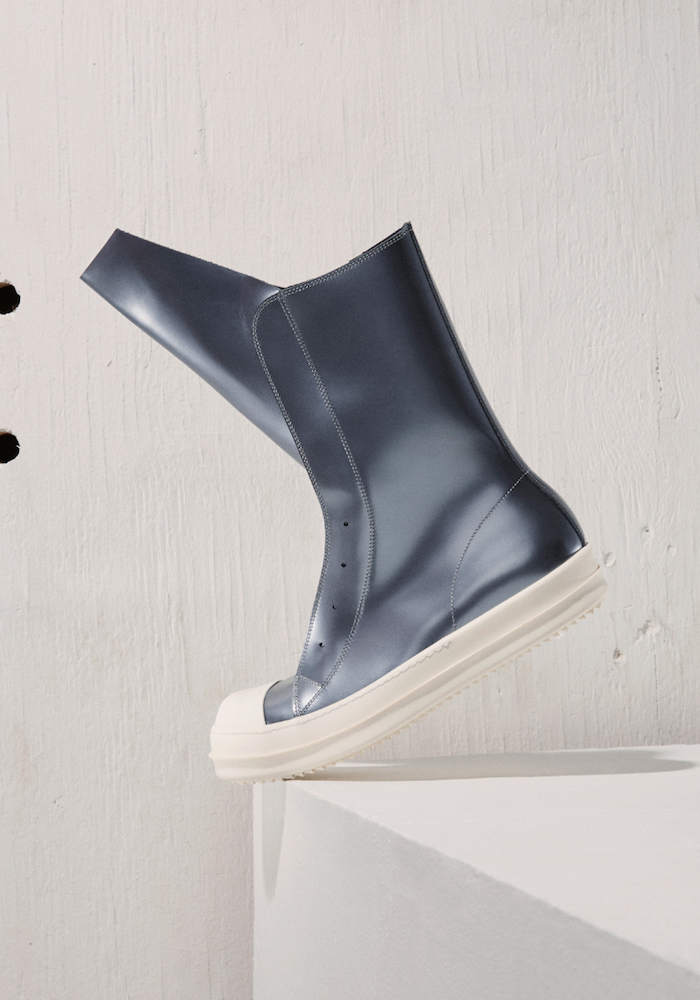 Rick Owens Leather Ramones Boot Sneakers