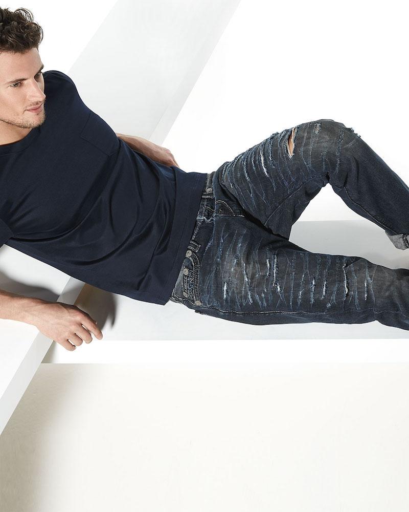 True Religion Dean Relaxed Destroyed Denim Jeans