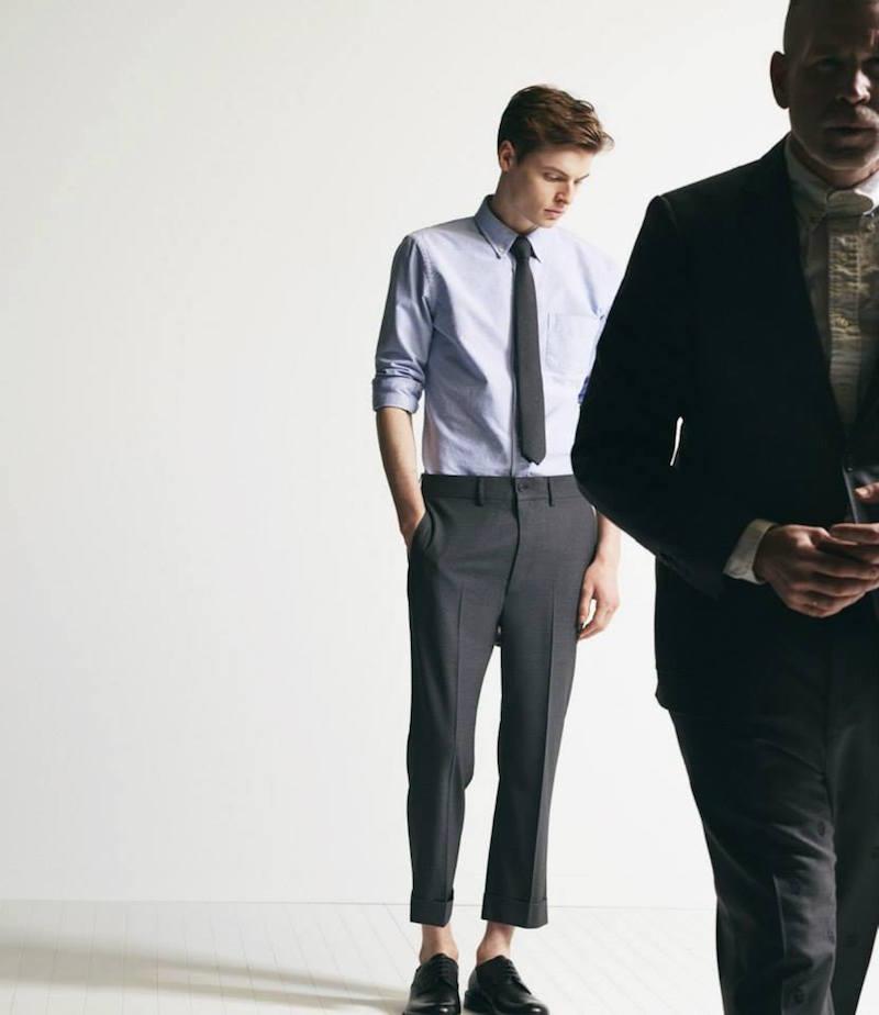 Wooster + Lardini Mélange Drop-Rise Cuffed Trousers