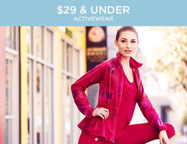 $29 & Under: Activewear at MYHABIT