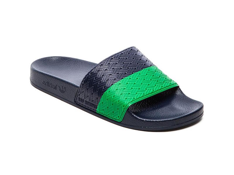 adidas by Raf Simons Two Tone Adilette Slides_Green
