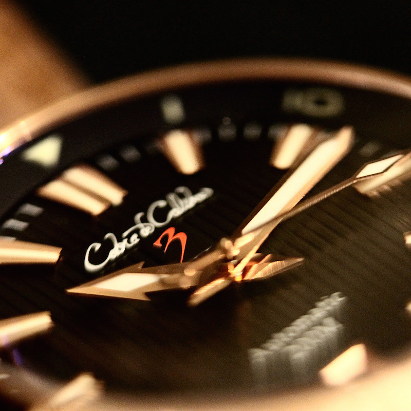 Cobra de Calibre CuSn8 Bronze Dual Crown Black Dial Automatic Watch
