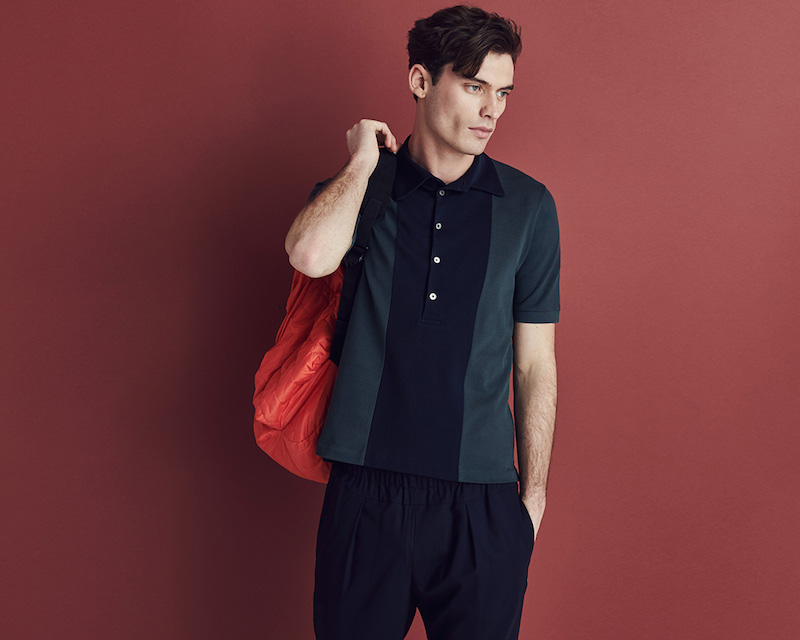 Paul Smith Contrast-panel Cotton-piqué Polo Shirt
