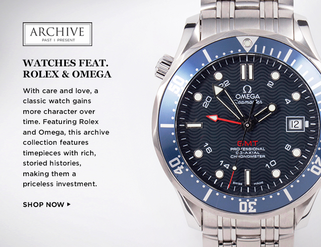 ARCHIVE Rolex & Omega Watches at MYHABIT