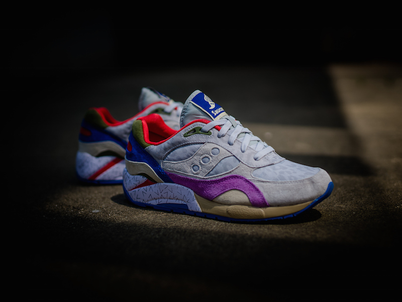 Bodega x Saucony G9 Shadow 6 Pattern Recognition Grey Purple