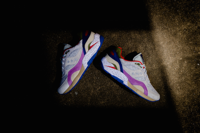 Bodega x Saucony G9 Shadow 6 Pattern Recognition Grey Purple_1