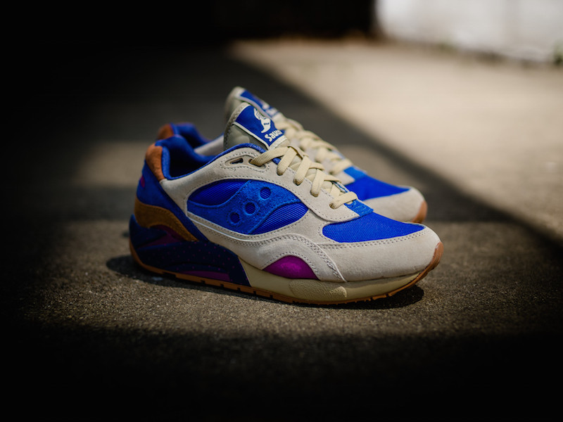 Bodega x Saucony G9 Shadow 6 Pattern Recognition Light Tan Blue