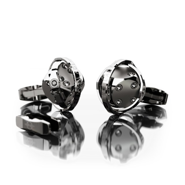 Encelade 1789 Dice Cufflinks + Clip // Stainless Steel