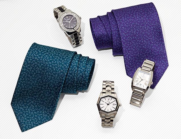 Just In Versace Ties & Watches at MYHABIT