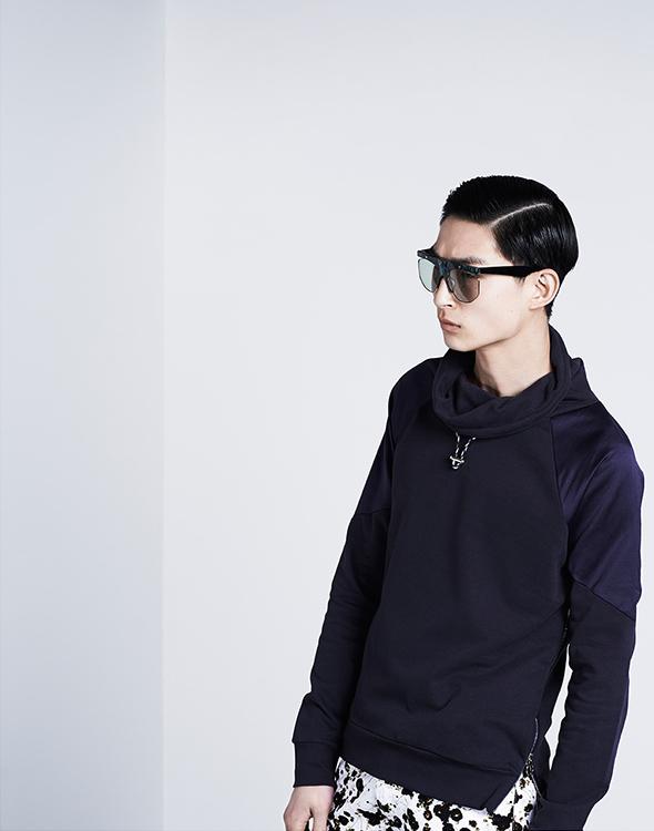 Paul Smith Funnel-neck Side-zip Sweatshirt
