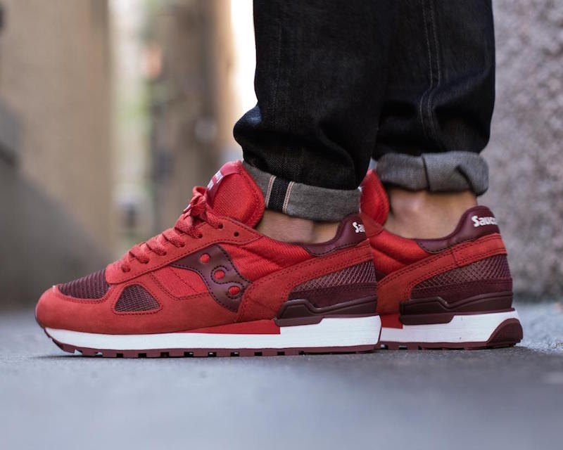 Saucony Shadow Original in Red/Burgundy