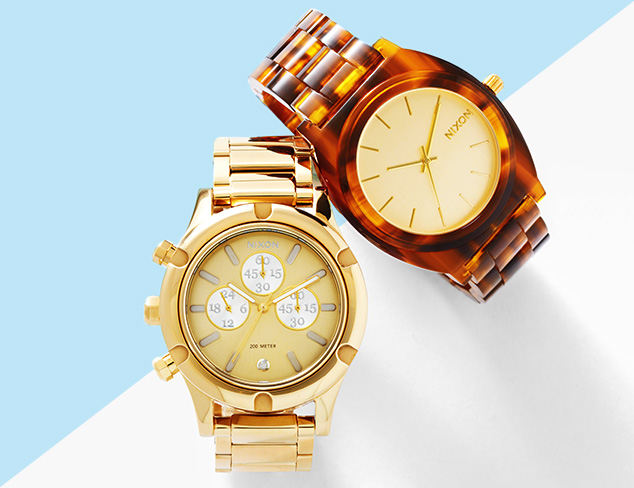 Watches feat. Nixon at MYHABIT