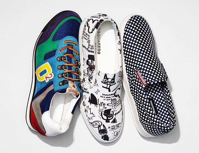 Designer Sneakers feat. Dsquared2 at MYHABIT