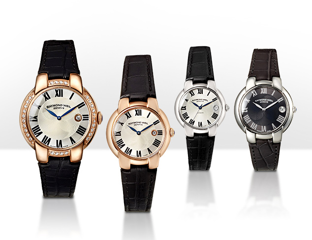 Leather Band Watches feat. Raymond Weil at MYHABIT