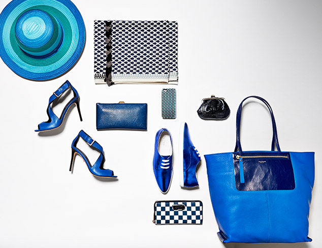 Bold in Blue Bags, Shoes & More at MYHABIT