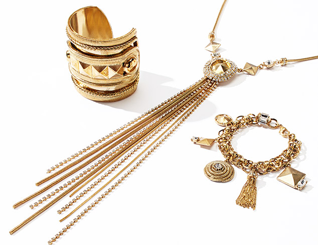 Draped in Gold Jewelry at MYHABIT
