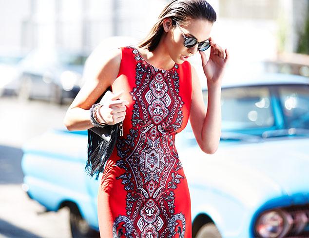 Sandra Darren Sleeveless Printed Sheath Dress