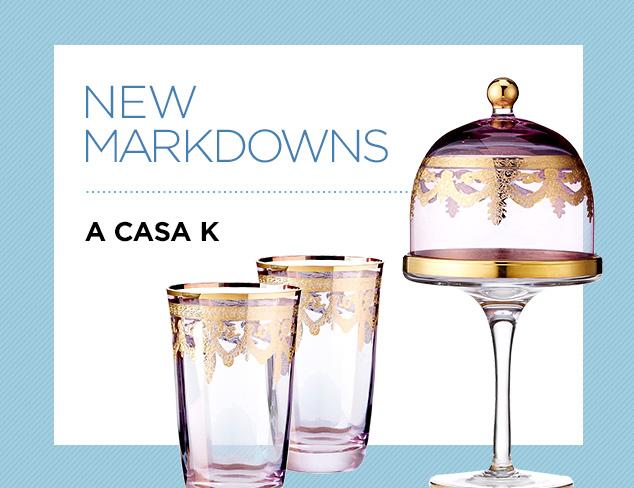 New Markdowns A Casa K at MYHABIT