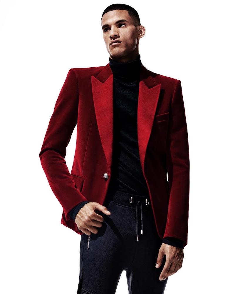 Balmain Satin-Lapel Single-Button Sportcoat