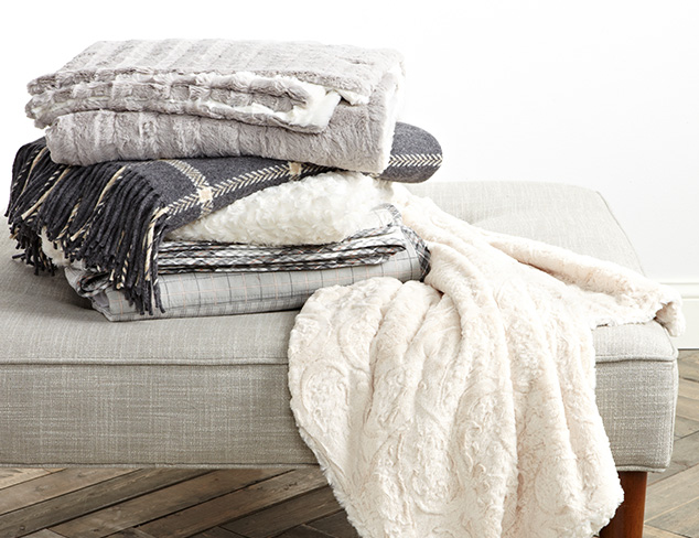 Tourance Faux Fur Throws at MYHABIT