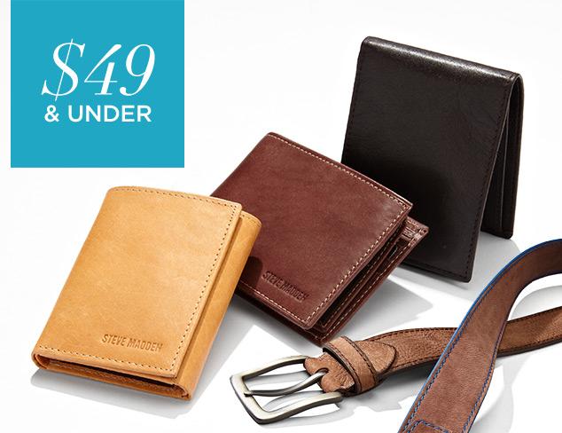 $49 & Under Belts & Wallets at MYHABIT