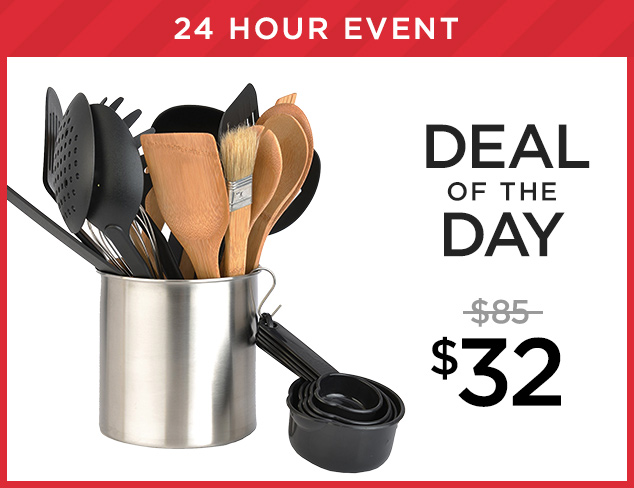 Deal of the Day BergHOFF Tub of Tools at $32 at MYHABIT