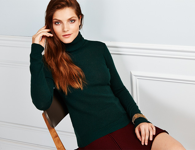The Cashmere Shop Turtleneck Sweaters at MYHABIT