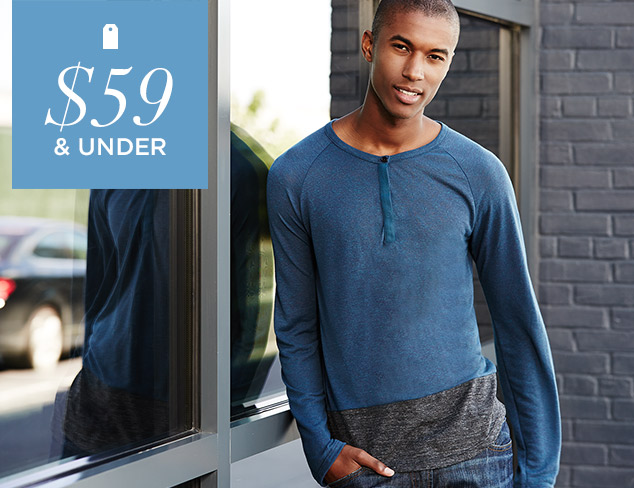$59 & Under Polos & Henleys at MYHABIT