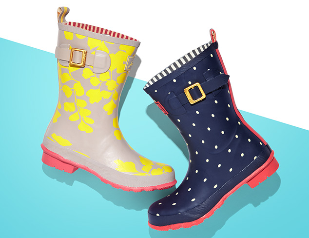Walking in the Rain Boots feat. Joules at MYHABIT
