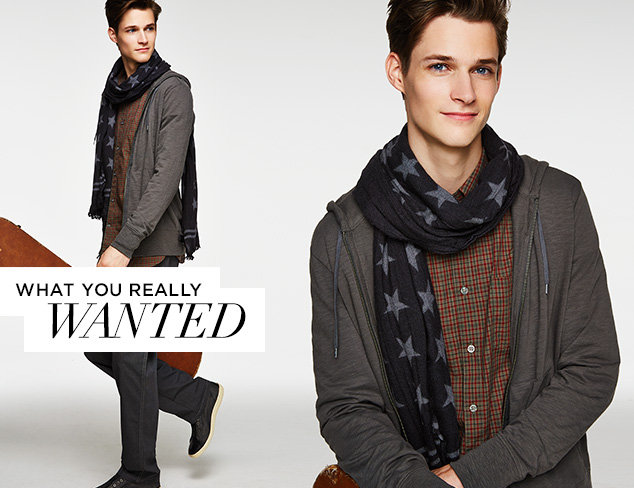 What You Really Wanted John Varvatos Clothing & Accessories at MYHABIT