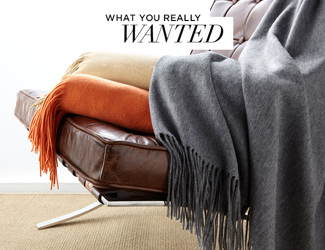What You Really Wanted Luxe Throws & More at MYHABIT