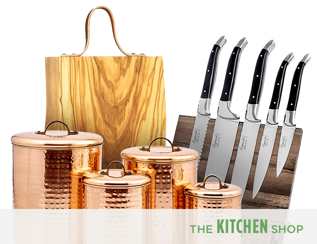 French Kitchen Copper, Glass & Olive Wood at MYHABIT