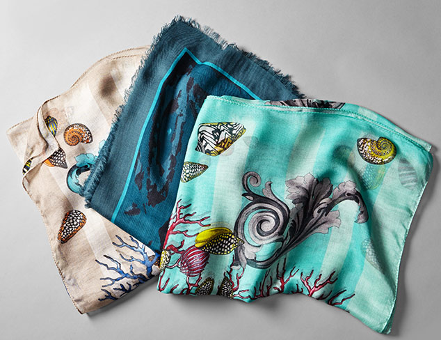 Versace & Roberto Cavalli Scarves at MYHABIT