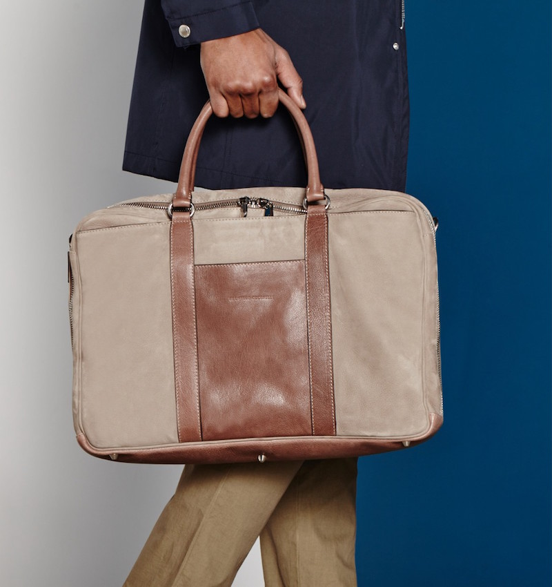 Brunello Cucinelli Brushed-leather Holdall Bag