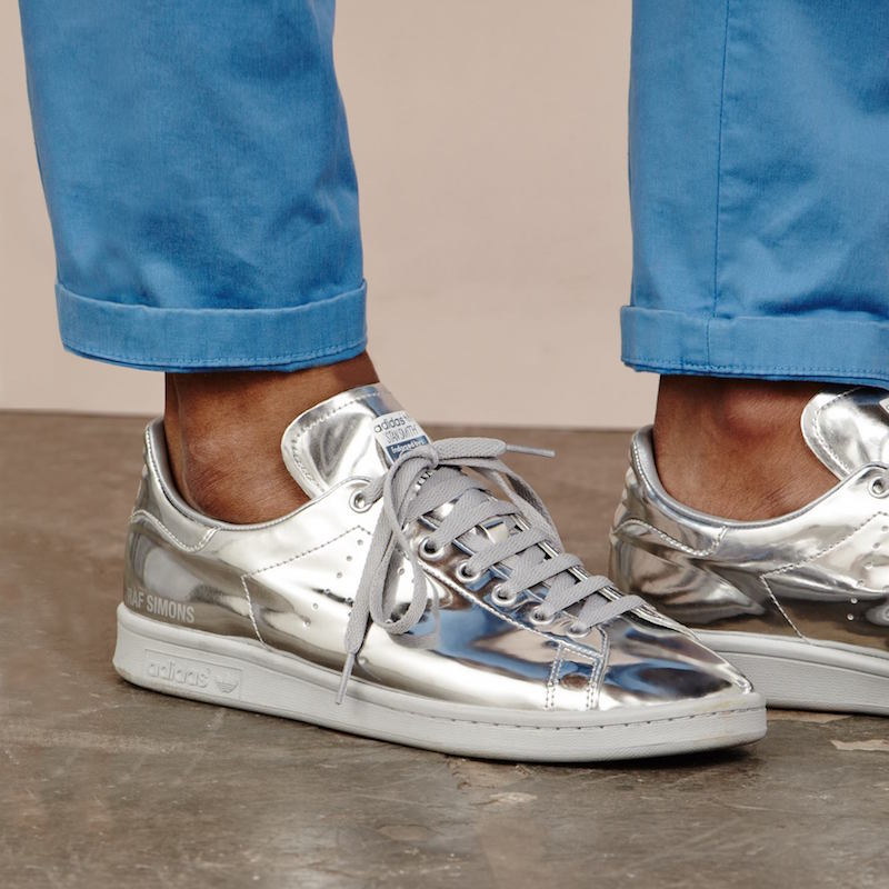 Raf Simons X Adidas Stan Smith Metallic-leather Trainers
